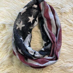 American Flag Patriotic winter infinity scarf
